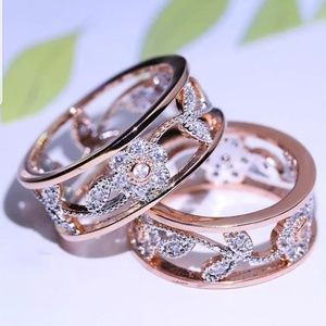 rose gold copper hypoallergenic flower ring